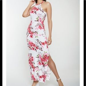 Floral Print Maxi Dress Size M